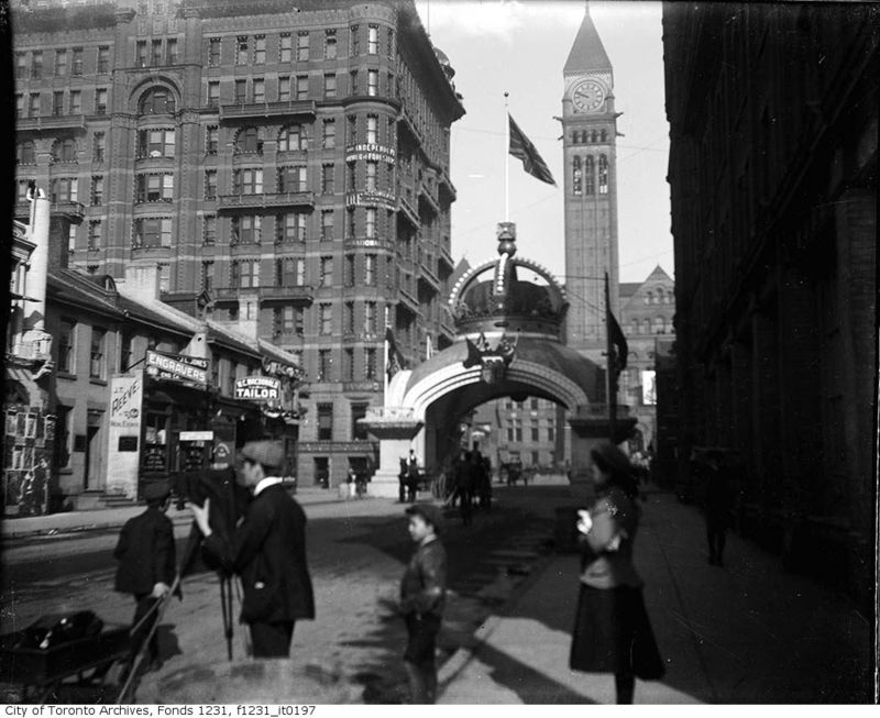 Richmond & Bay Royal Visit 1901 Toronto Ontario