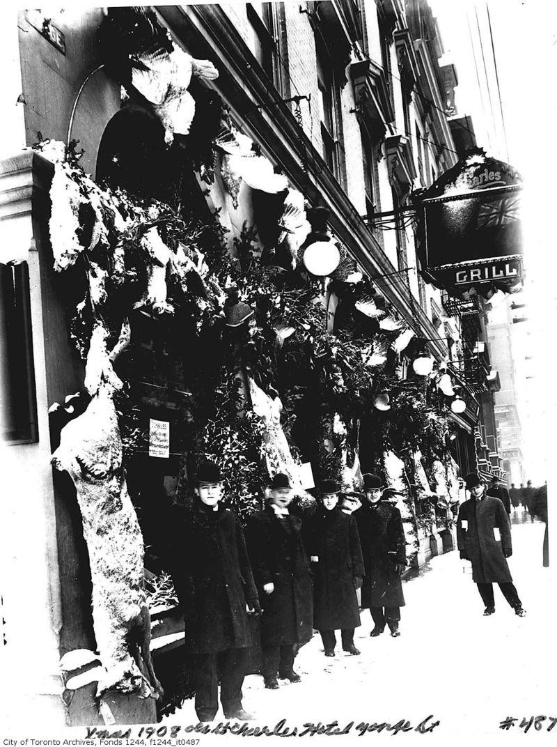St. Charles Hotel Christmas 1908 Yonge Street Toronto Ontario