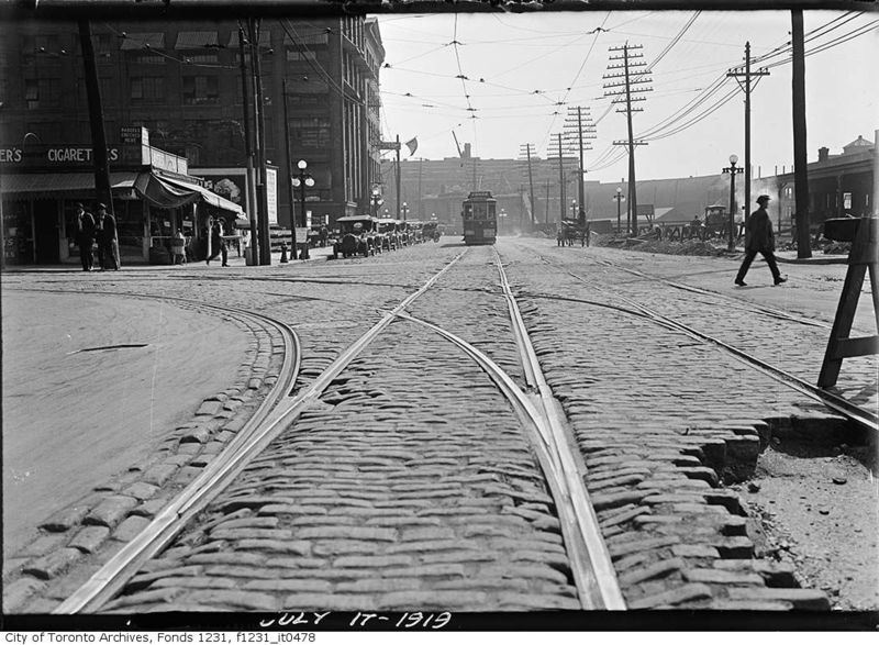 Front Street looking east over Bay 1919 Toronto Ontario