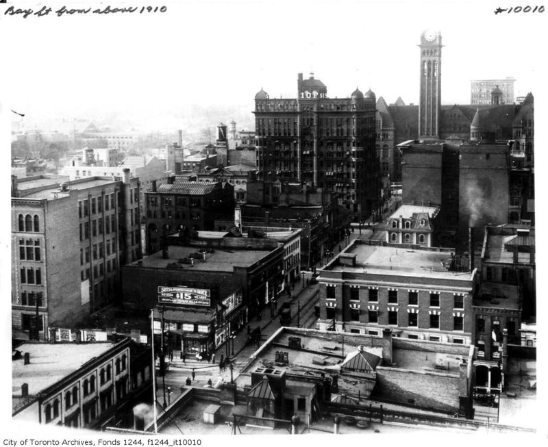 Bay Street looking north from King 1910 Toronto Ontario