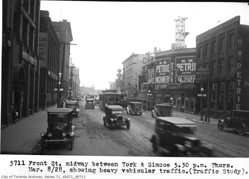 Front Street between York & Simcoe1928 Toronto Ontario